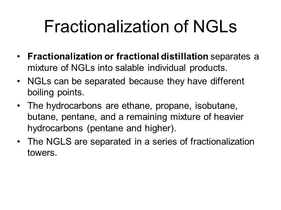 Fractionalization of NGLs