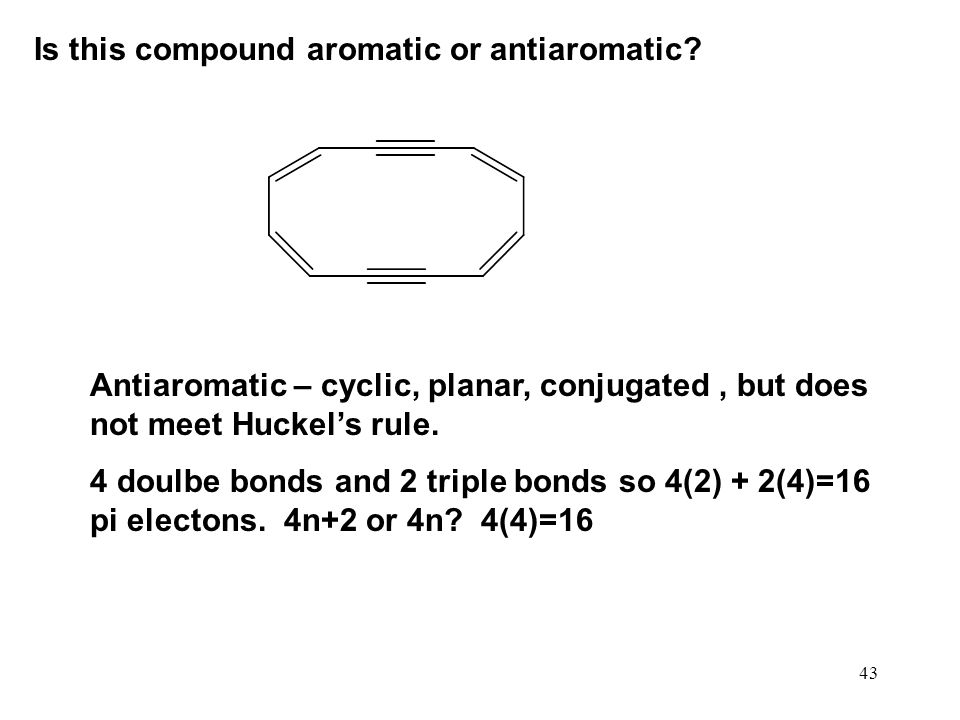Is this compound aromatic or antiaromatic
