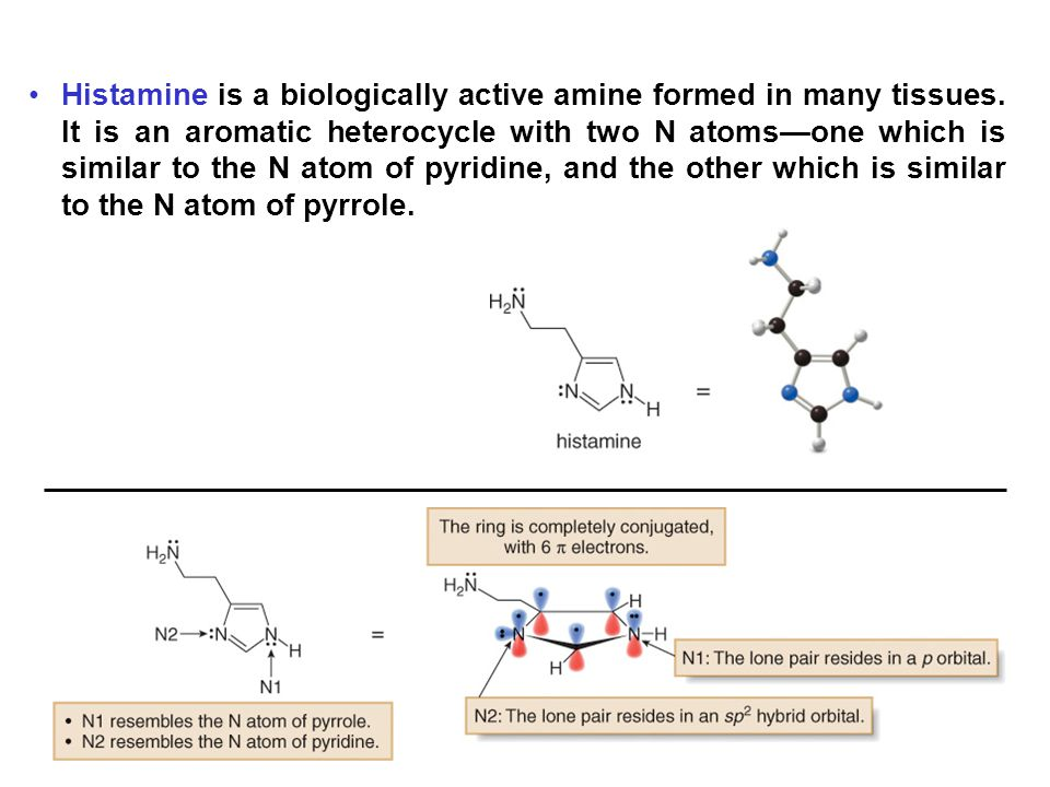 Histamine is a biologically active amine formed in many tissues