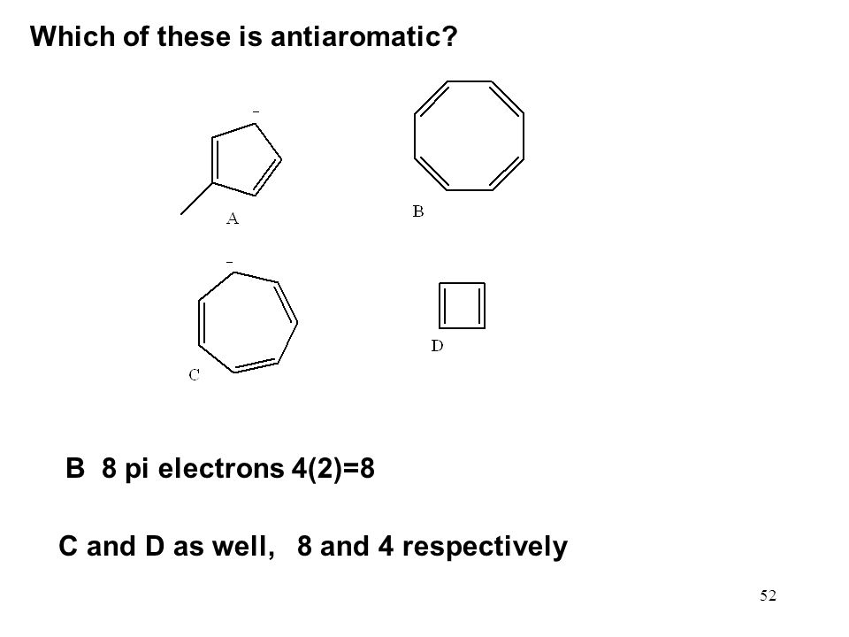Which of these is antiaromatic