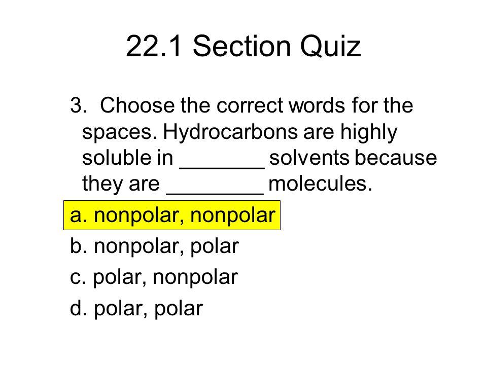 22.1 Section Quiz