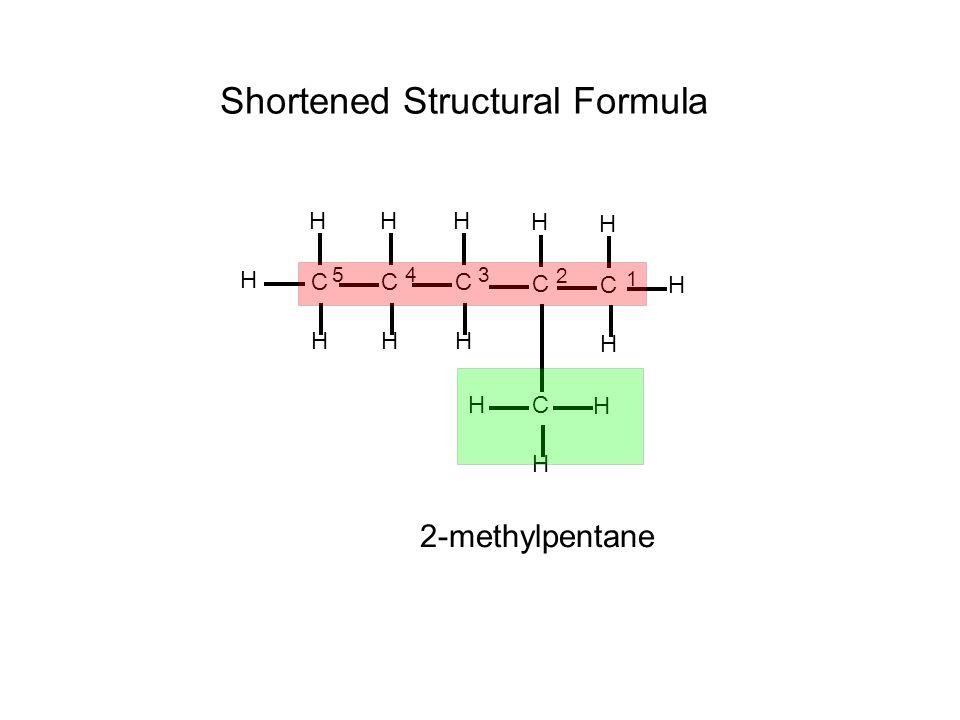 Shortened Structural Formula