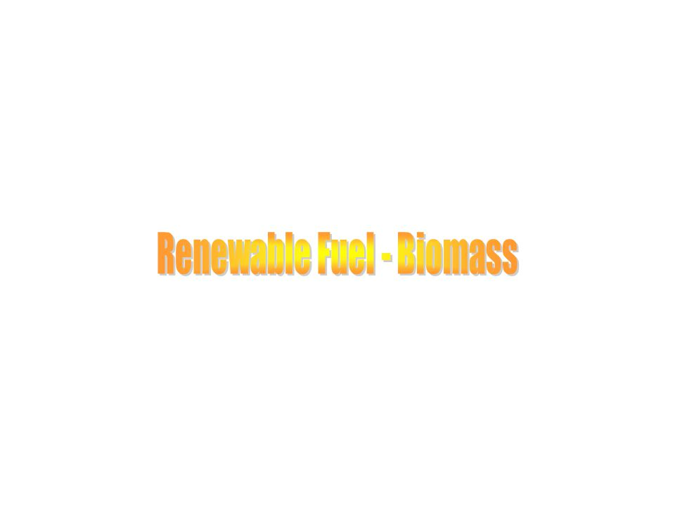 Renewable Fuel - Biomass