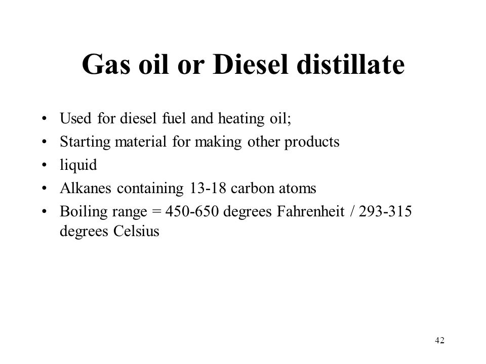 Gas oil or Diesel distillate