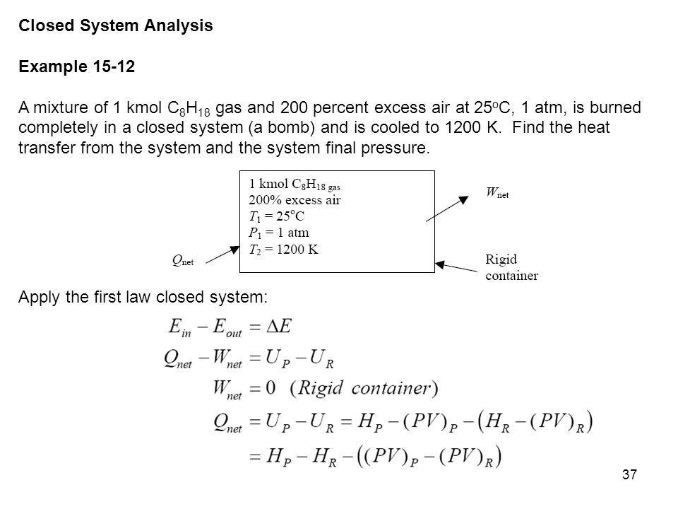 Closed System Analysis