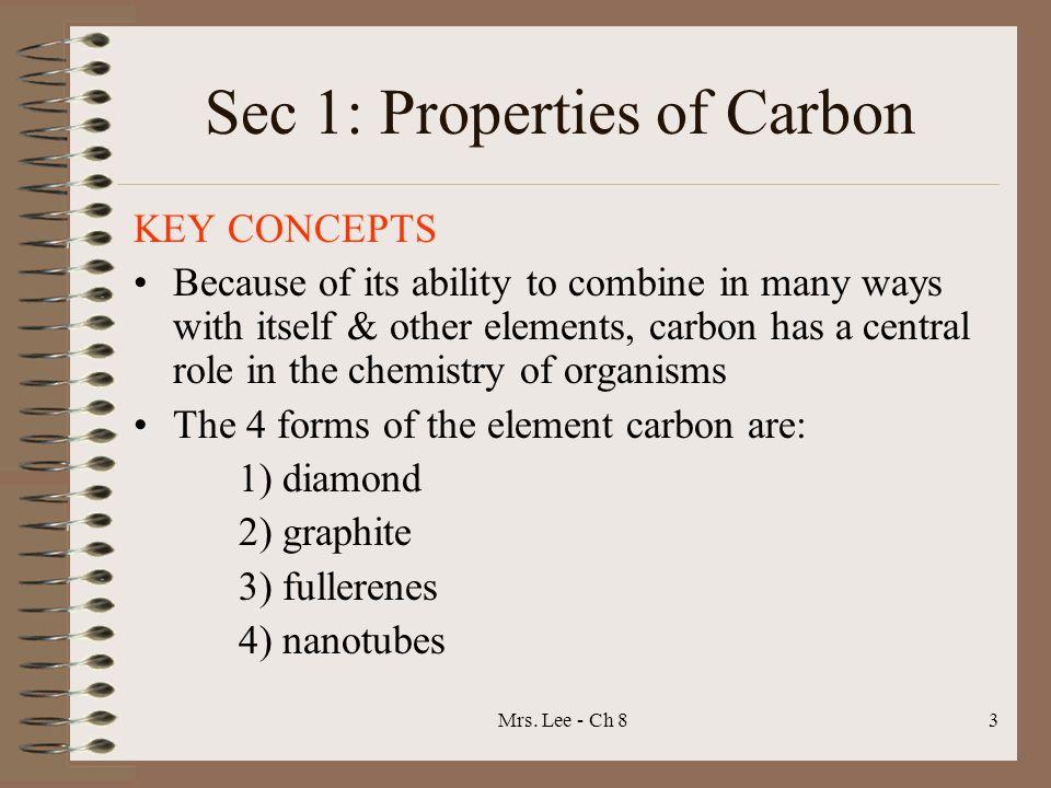 Sec 1: Properties of Carbon