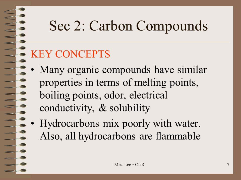 Sec 2: Carbon Compounds KEY CONCEPTS