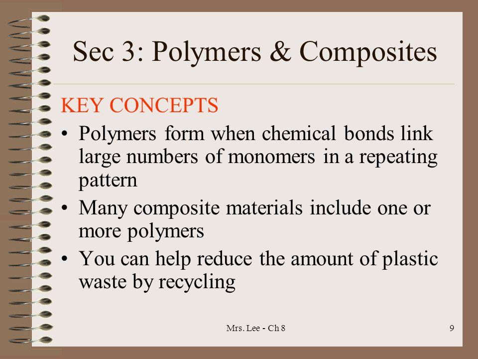 Sec 3: Polymers & Composites