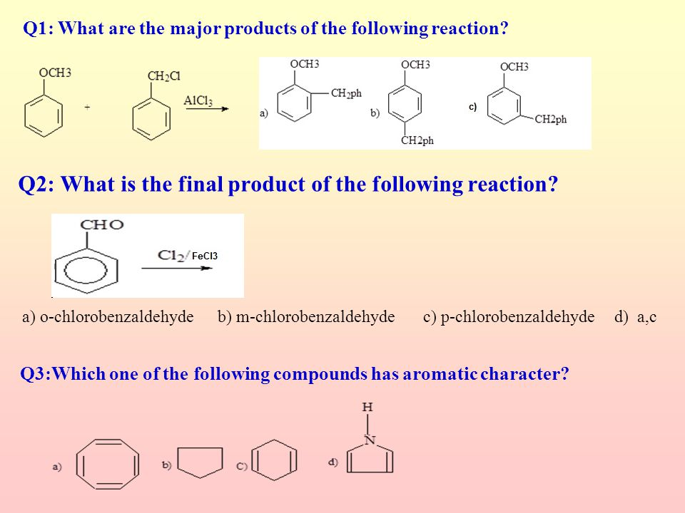 Q2: What is the final product of the following reaction