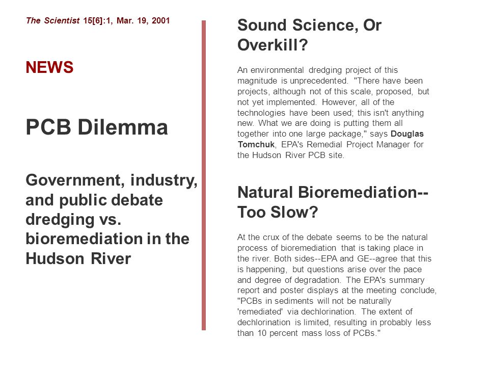 PCB Dilemma Sound Science, Or Overkill NEWS