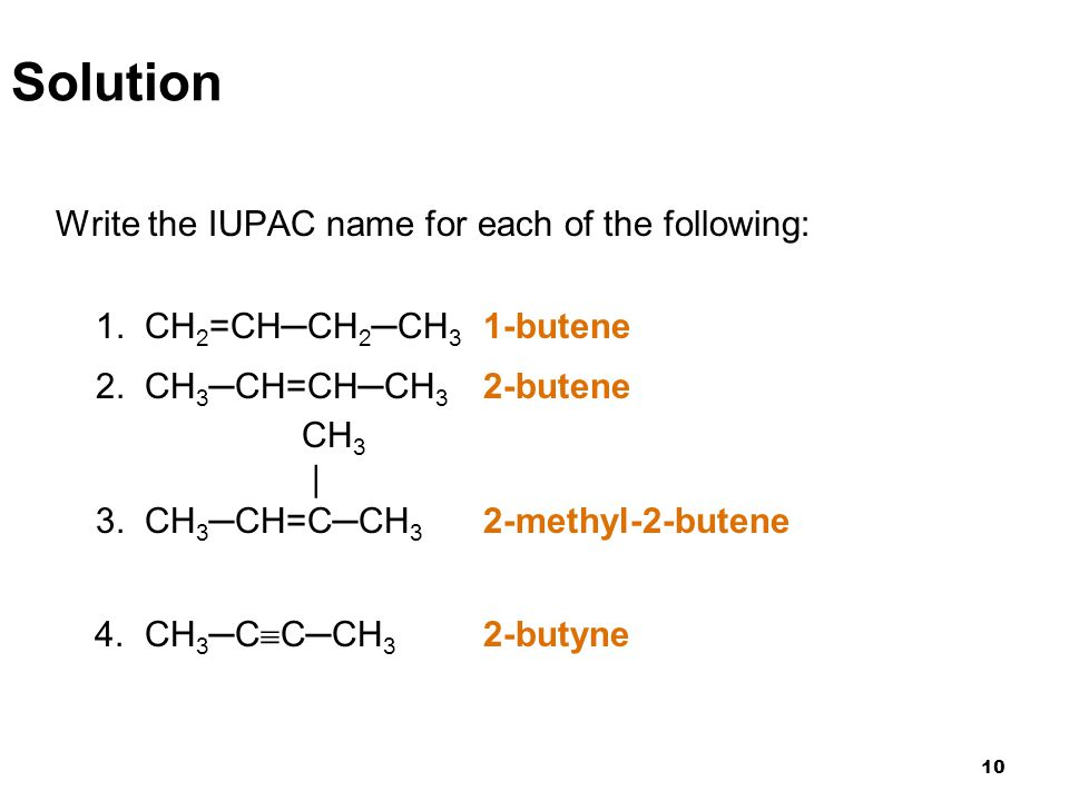 Solution Write the IUPAC name for each of the following: