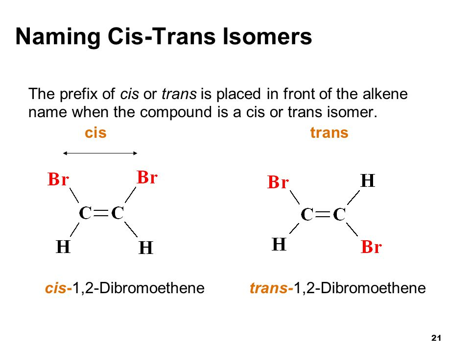 Naming Cis-Trans Isomers