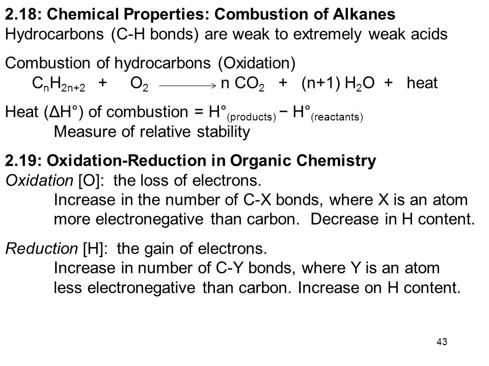 Chapter 2. Alkanes and Cycloalkanes: Introduction to