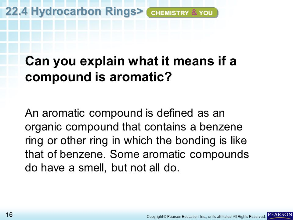 Can you explain what it means if a compound is aromatic