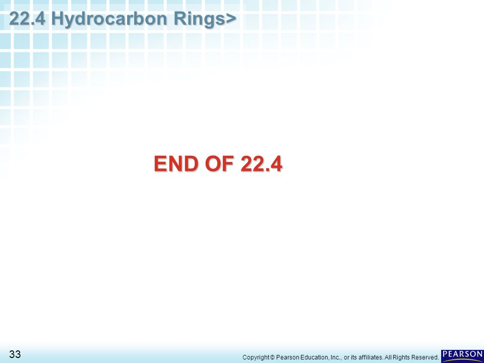 END OF 22.4 Copyright © Pearson Education, Inc., or its affiliates. All Rights Reserved.