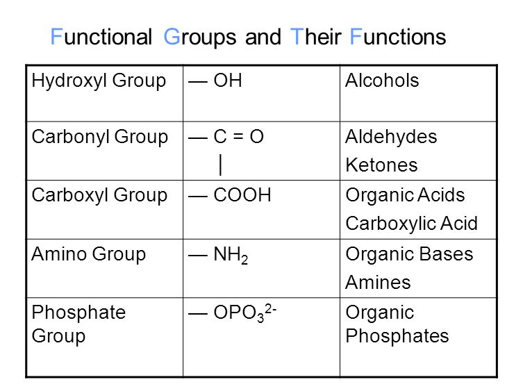 Functional Groups and Their Functions