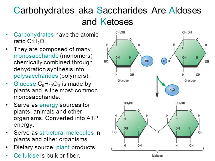 Carbohydrates aka Saccharides Are Aldoses and Ketoses