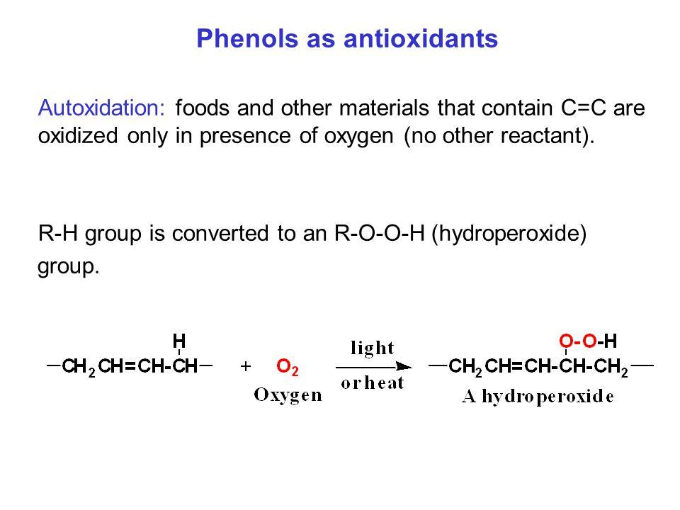 Phenols as antioxidants