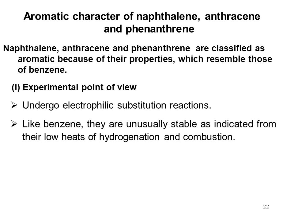 Aromatic character of naphthalene, anthracene and phenanthrene