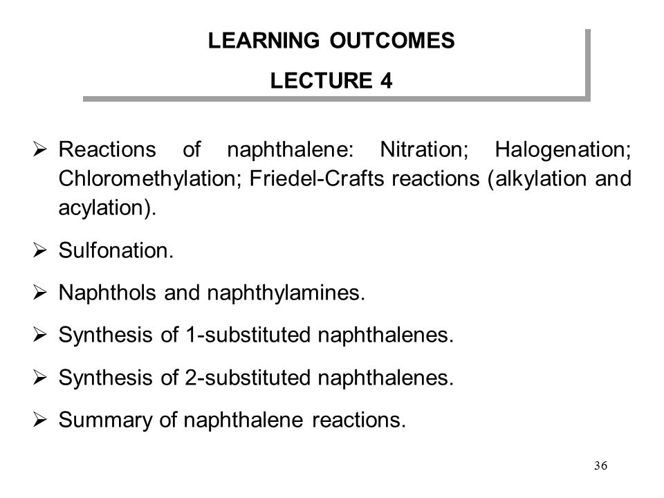 LEARNING OUTCOMES LECTURE 4