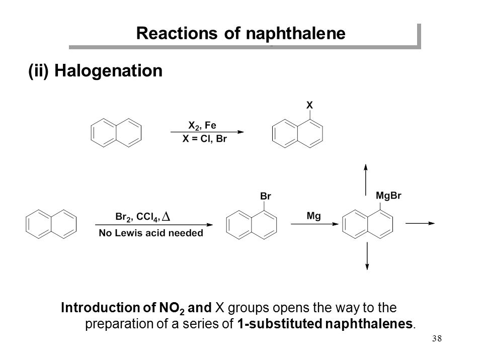 nitration of naphthalene Naphthalene is the most abundant polycyclic aromatic hydrocarbon (pah) found in urban air it is reactive in the atmosphere under ambient conditions, its chief reaction partner being the hydroxyl radical, oh• in this work, the reactions of oh• with naphthalene, 1- and 2-naphthol, and 1- and 2-nitronaphthalene were studied in a 94 m3 smog chamber.