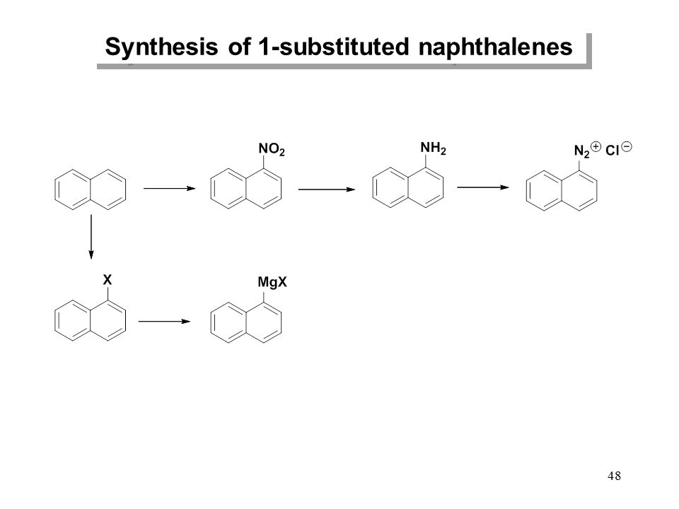 Synthesis of 1-substituted naphthalenes
