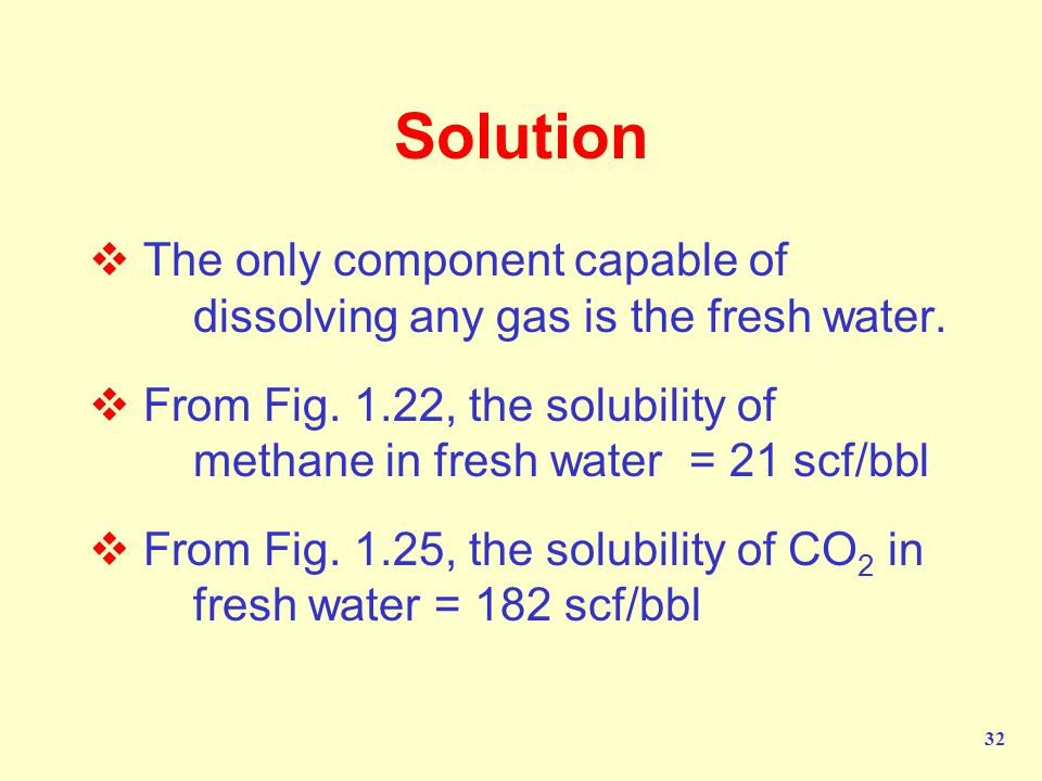 Solution The only component capable of dissolving any gas is the fresh water.