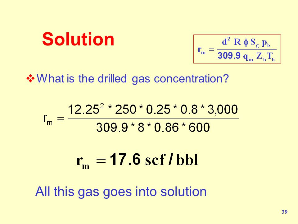 Solution All this gas goes into solution