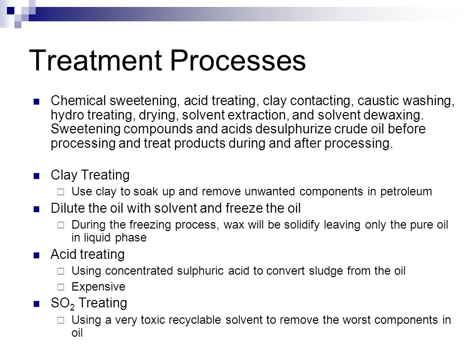 Treatment Processes