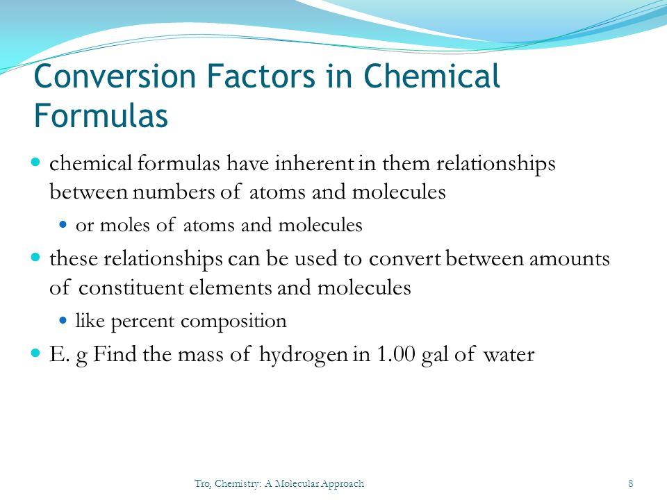 Conversion Factors in Chemical Formulas