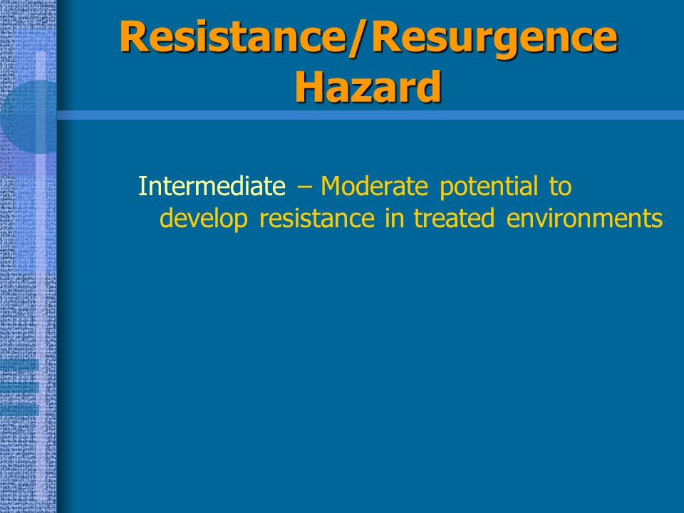 Resistance/Resurgence Hazard
