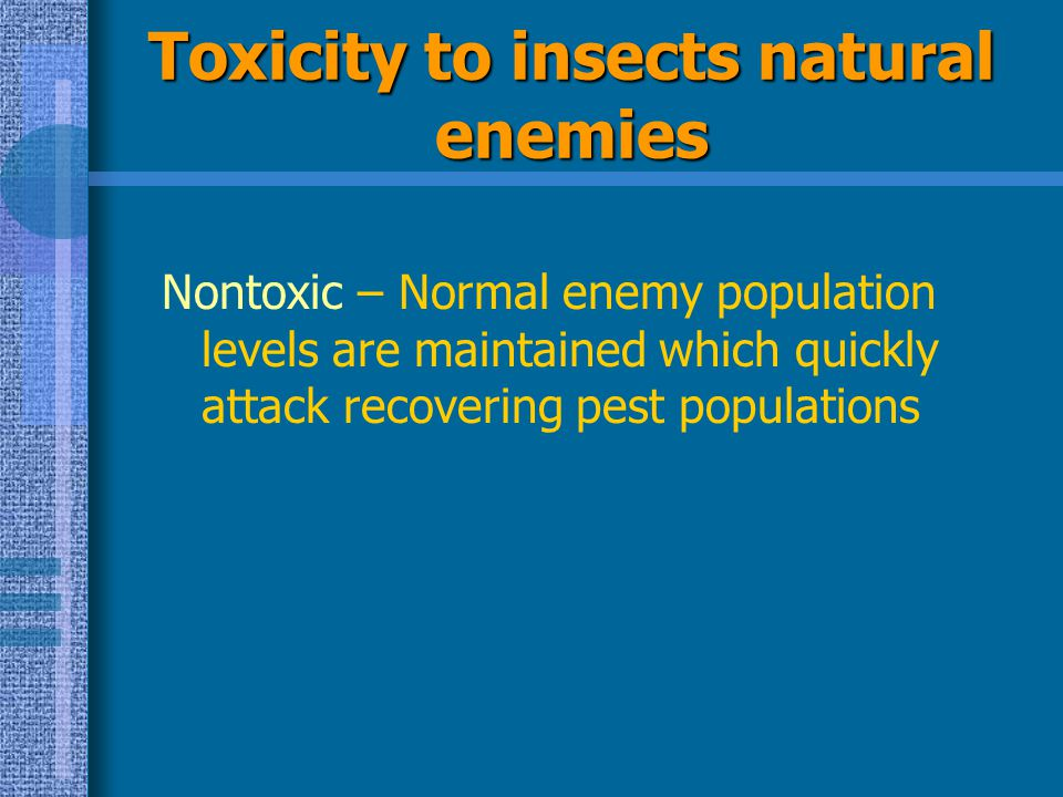 Toxicity to insects natural enemies
