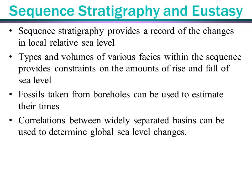 Sequence Stratigraphy and Eustasy
