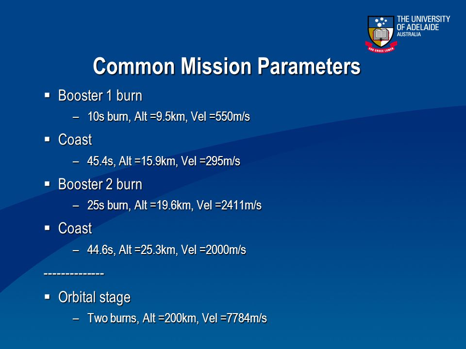 Common Mission Parameters
