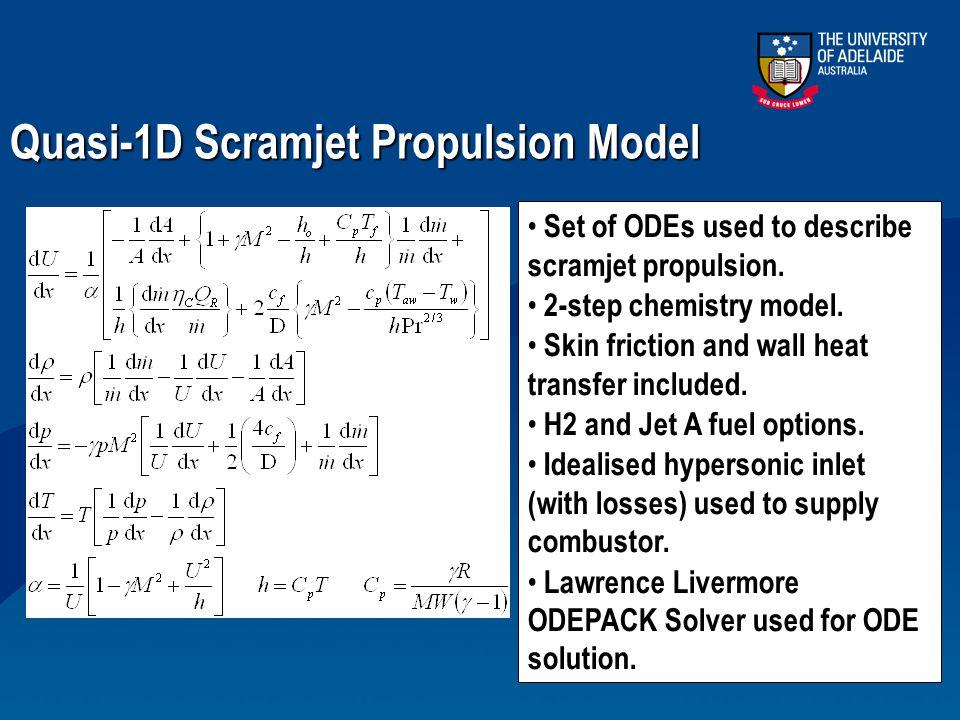 Quasi-1D Scramjet Propulsion Model