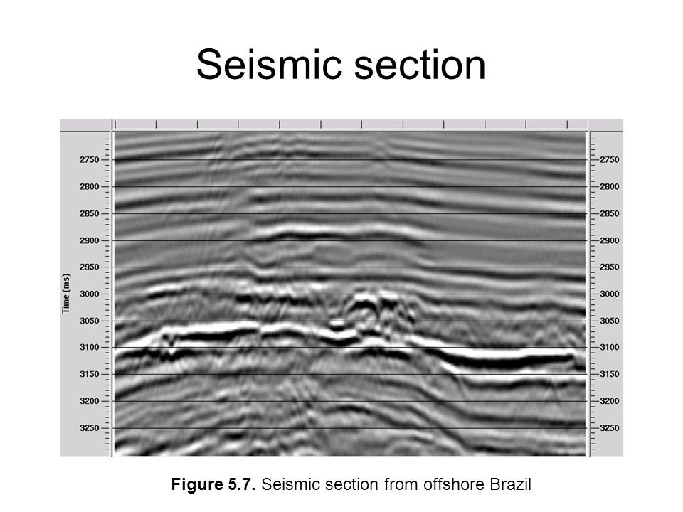 Seismic section Figure 5.7. Seismic section from offshore Brazil