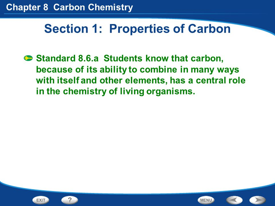Section 1: Properties of Carbon