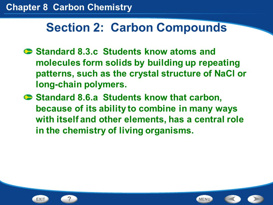 Section 2: Carbon Compounds