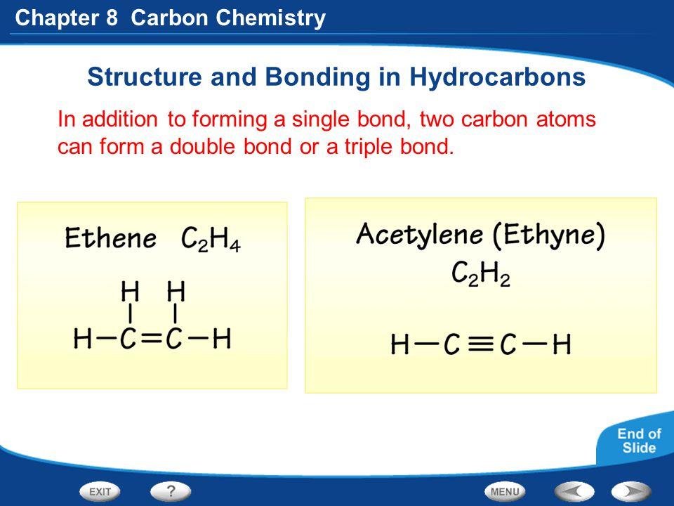 Structure and Bonding in Hydrocarbons