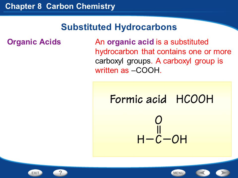 Substituted Hydrocarbons