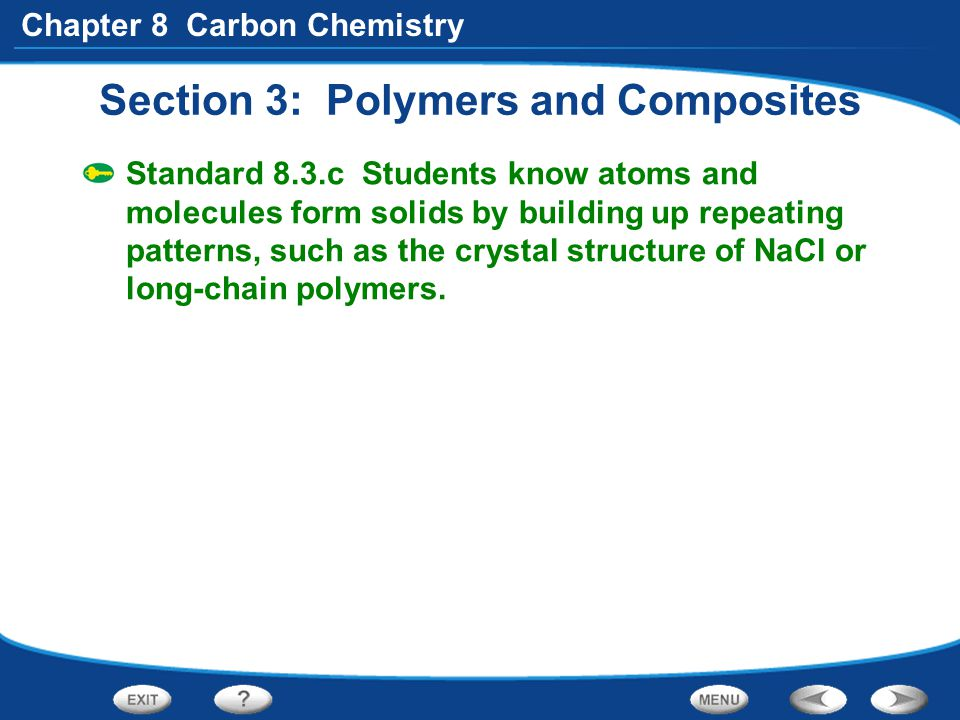 Section 3: Polymers and Composites