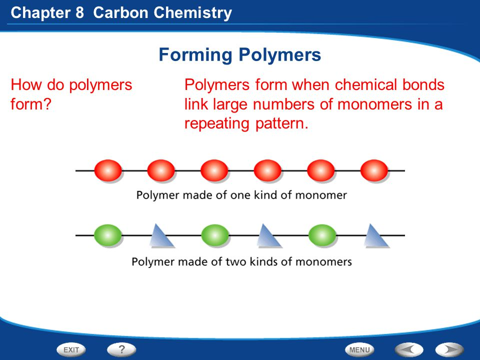 Forming Polymers How do polymers form