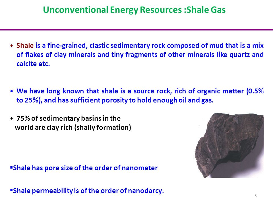 Unconventional Energy Resources :Shale Gas