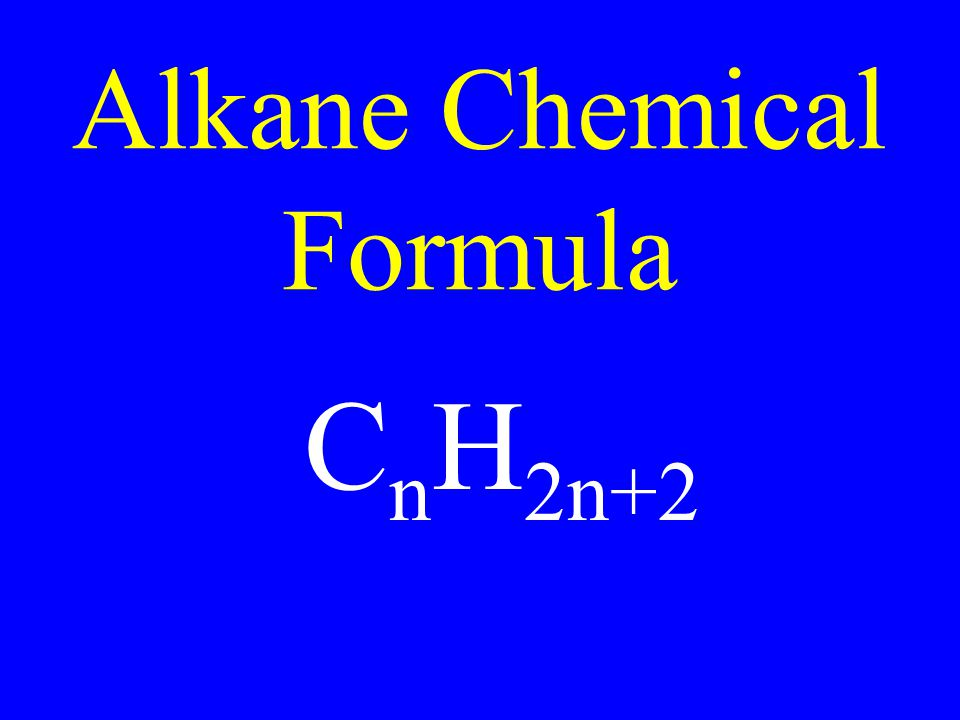 Alkane Chemical Formula