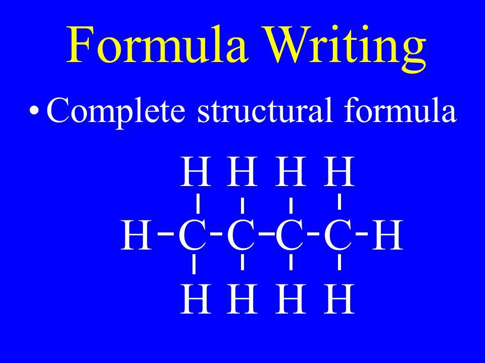 Complete structural formula