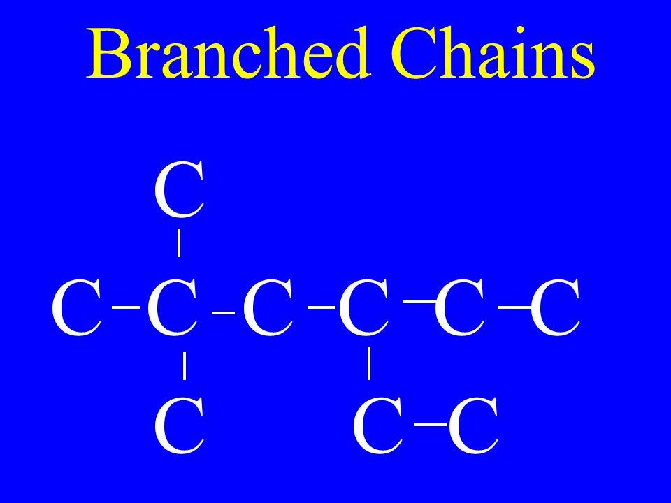Branched Chains C C C C C C C C C C