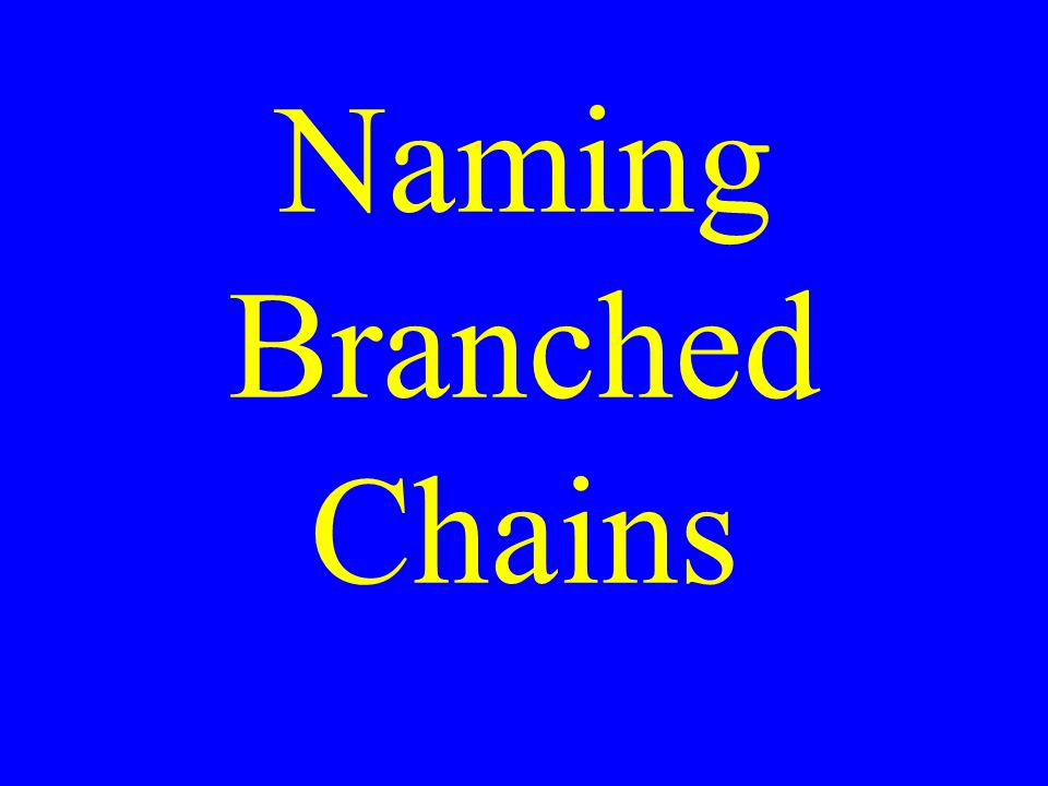Naming Branched Chains