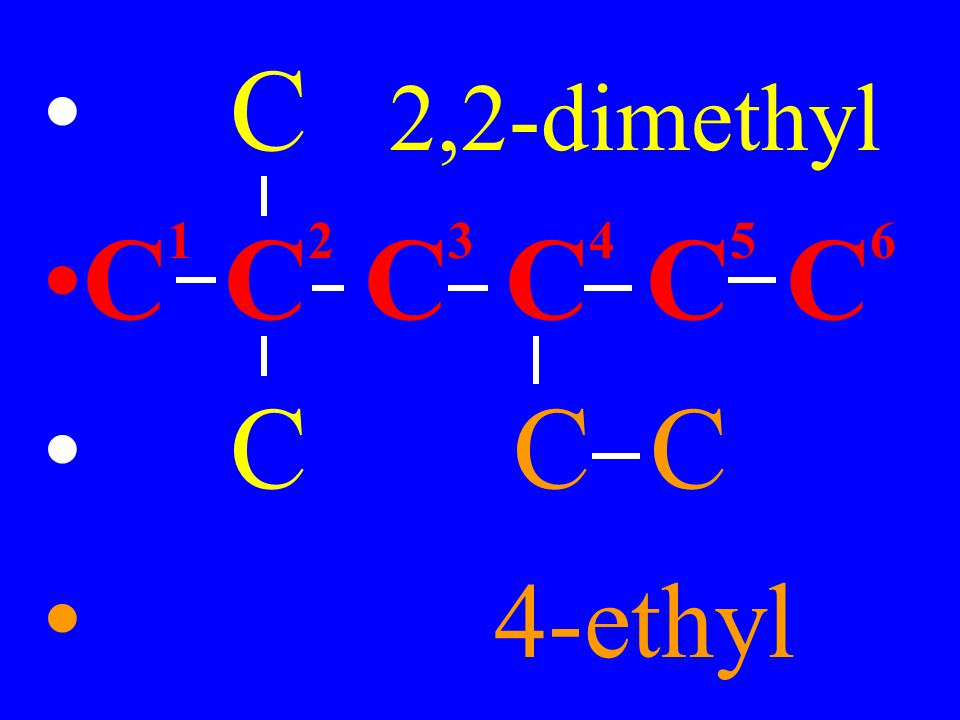 C 2,2-dimethyl C1 C2 C3 C4 C5 C6 C C C 4-ethyl