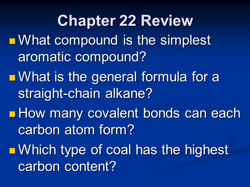 "Chapter 22 Review ""Hydrocarbon Compounds"" - ppt video online download"