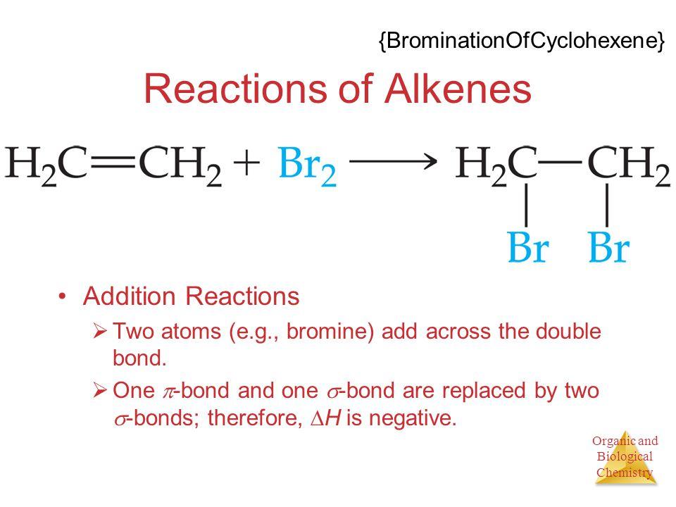 Reactions of Alkenes Addition Reactions {BrominationOfCyclohexene}